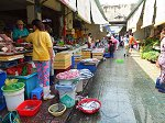 ベトナムの魚が並ぶ魚市場