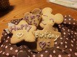 孫娘手作りのほがらかおじさんの誕生クッキー