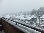 周りが見えないぐらいの雪(13:00)