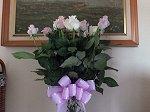 バレンタインバースデーのバラの花束