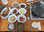 アマダイの焼魚定食の昼食