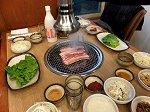 黒豚焼肉の夕食