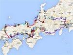 関西中国北陸巡りマップ