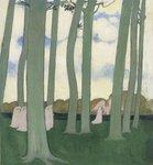 モーリス・ドニ「木々の中の行列(緑の木立)」