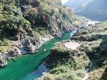 吉野川の渓谷大歩危渓