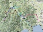 高原の旅走行ルート(クリックで画像拡大)