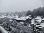 我が家から見た雪景色