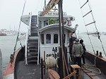 乗船したクルーズ船の甲板