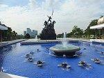 高さ約15mのマレーシア独立戦争での戦役兵士の霊に捧げた国家記念碑