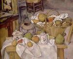 ポール・セザンヌ「台所のテーブル〈篭のある静物〉」
